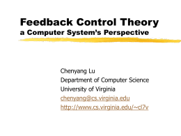 Feedback Control Theory from a Computer System …