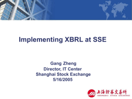 Shanghai Stock Exchange Presentation