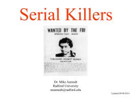 Serial Killers - Radford University