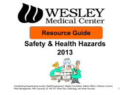 Annual Review 2007 Safety & Health Hazards