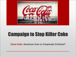 Campaign to Stop Killer Coke