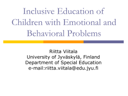 Children with emotional and behavioural problems at