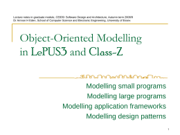 Object-Oriented Modelling in Class-Z