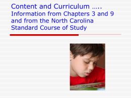 Chapter 3 Content, Learners, and Context