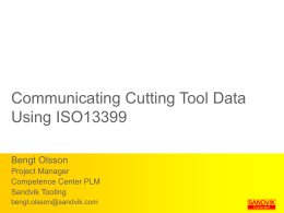 Communicating Cutting Tool Data Using ISO13399