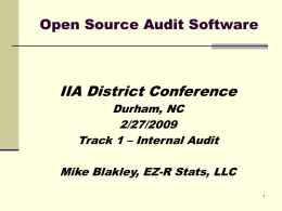 Using Open Source Software in Audits - EZ