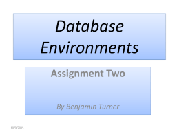 Database Environments