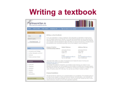 Writing a textbook - CAD Resources and Louis Gary Lamit