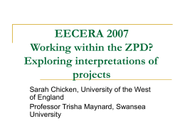 Working within the ZPD? Exploring interpretations of …
