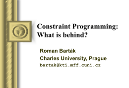 Constraint Programming: What is behind?