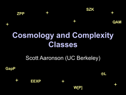 Cosmology and Complexity Classes