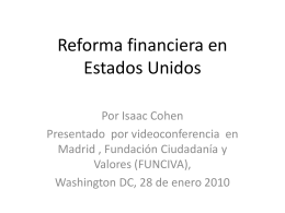 Reforma financiera en Estados Unidos