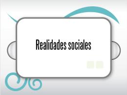 Realidades sociales