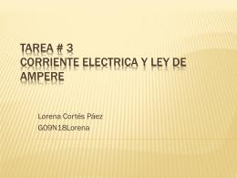TAREA # 3 CORRIENTE ELECTRICA Y LEY DE AMPERE
