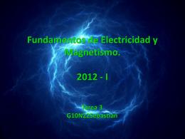 Fundamentos de Electricidad y Magnetismo. 2012
