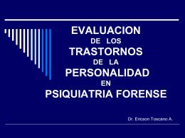 IMPLICACIONES LEGALES DE LOS TRASTORNOS DE LA …