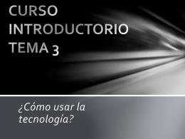 CURSO INTRODUCTORIO TEMA 3