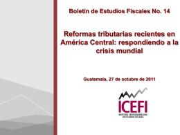Diapositiva 1 - Instituto Centroamericano de Estudios …