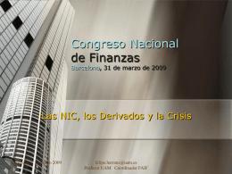 Congreso Nacional de Finanzas Barcelona, 31 de marzo de …