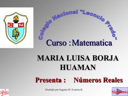 MARIA LUISA BORJA HUAMAN