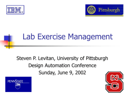 Lab Exercise Management - Pennsylvania State University