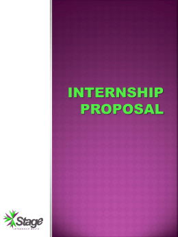 Proposal for your internship