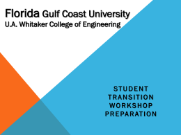 Florida Gulf Coast University U.A. Whitaker College of