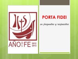 PORTA FIDEI - Bienvenido a la Parroquia San Pedro de Las