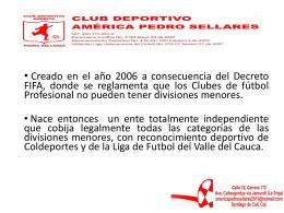CLUB DEPORTIVO AMERICA PEDRO SELLARES