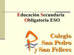 C olegio - COLEGIO SAN PEDRO Y SAN FELICES BURGOS