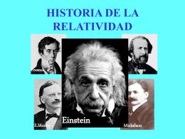 HISTORIA DE LA RELATIVIDAD