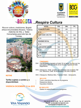 RUMBA EN BOGOTA, El Mejor Fin de Semana