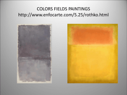 COLORS FIELDS PAINTINGS …