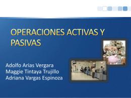OPERACIONES ACTIVAS Y PASIVAS