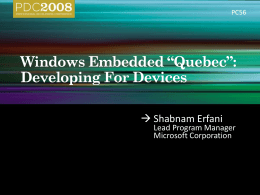 "PC56 – Windows Embedded ""Quebec"""