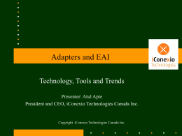 Adapter and EAI - Computer Engineering