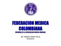 FEDERACION MEDICA COLOMBIANA