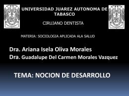 NOCION DEL DESARROLLO SOCIAL