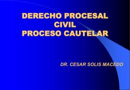 DERECHO PORCESAL CIVIL II