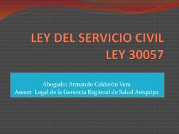 LEY DEL SERVICIO CIVIL LEY 30057