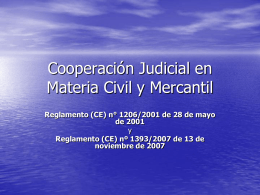 Judicial Cooperation in Civil and Commercial Matters