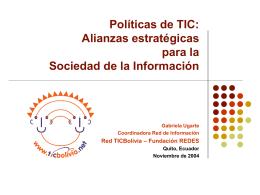Iniciativas sociedad civil
