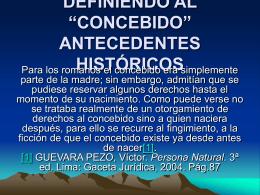 """DEFINIENDO AL """"CONCEBIDO"""" ANTECEDENTES …"""