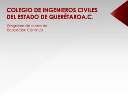 Diapositiva 1 - Colegio de Ingenieros Civiles del Estado