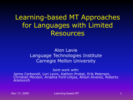 Automatic Rule Learning for Resource Limited MT