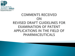 COMMENTS ON DRAFT BIOTECH GUIDELINES