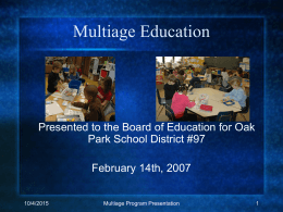 Multiage Education