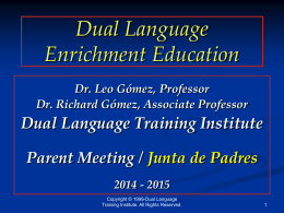 Bilingual Education - Lake Travis ISD / Overview