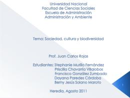 Universidad Nacional Facultad de Ciencias Sociales Escuela