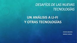 Desafios de las nuevas tecnologias